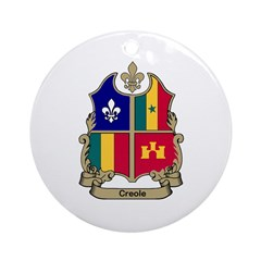 CREOLE Shield Ornament (Round)