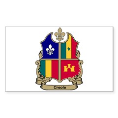 CREOLE Shield Rectangle Sticker