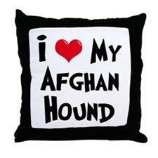 Afghan Hound Throw Pillow