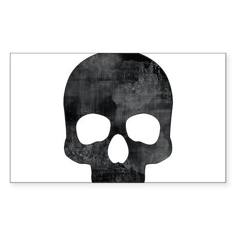 Skull Sticker (Rectangle)