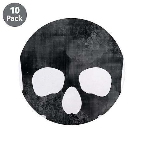 "Skull 3.5"" Button (10 pack)"