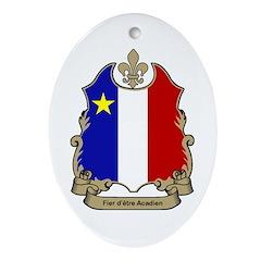 Fier Acadien Oval Ornament