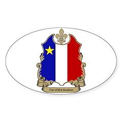 Fier Acadien Oval Decal