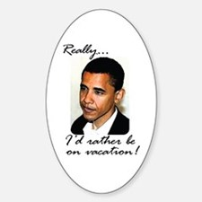 Cute Anti obaman Sticker (Oval)