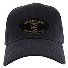 Steampunk Endless Screw Baseball Hat