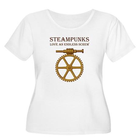 Steampunk Endless Screw Women's Plus Size Scoop Ne