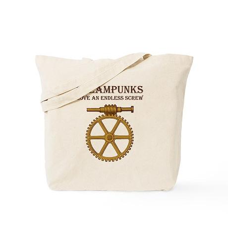 Steampunk Endless Screw Tote Bag