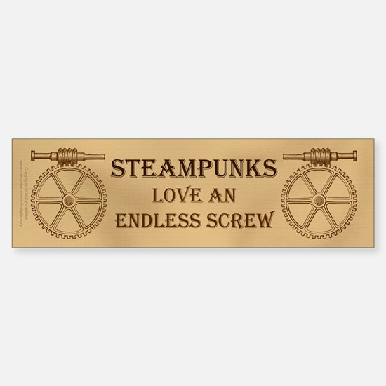 Steampunk Endless Screw Sticker (Bumper)