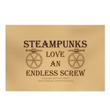 Steampunk Endless Screw Postcards (Package of 8)