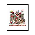 Xmas Meerkats Framed Panel Print