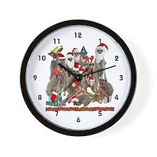 Xmas Meerkats Wall Clock