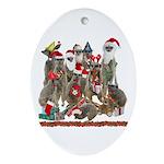 Xmas Meerkats Ornament (Oval)