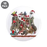"Xmas Meerkats 3.5"" Button (10 pack)"