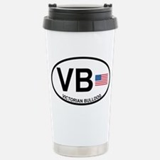 Victorian Bulldog Stainless Steel Travel Mug