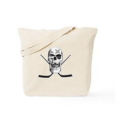Hockey Skull Tote Bag