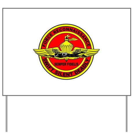 Force Recon Yard Sign