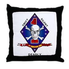 1st Recon Throw Pillow