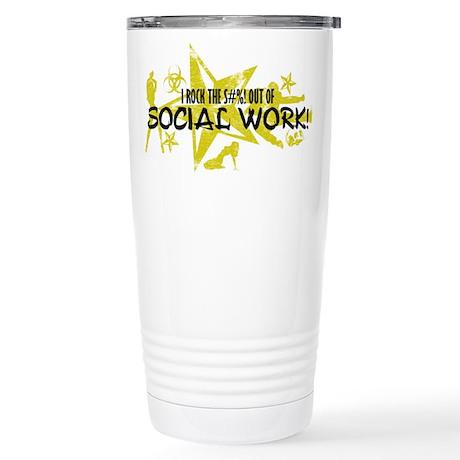 I ROCK THE S#%! - SOCIAL WORK Stainless Steel Trav