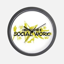 I ROCK THE S#%! - SOCIAL WORK Wall Clock