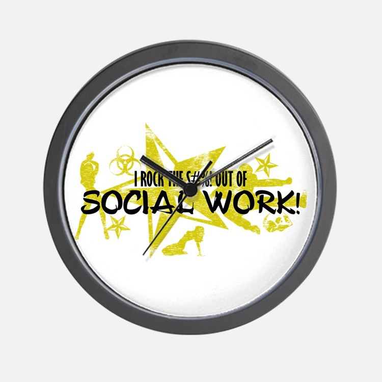I ROCK THE S#%! - SOCIAL WORK Wall Clock