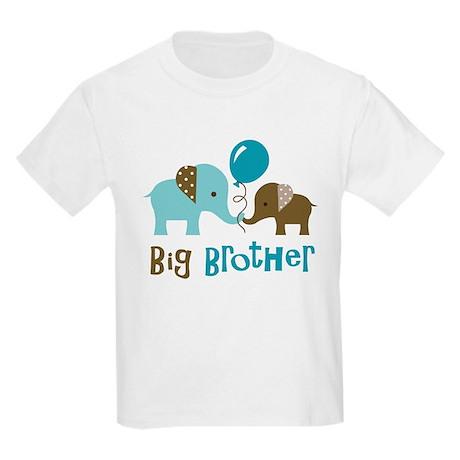 Big Brother - Mod Elephant Kids Light T-Shirt