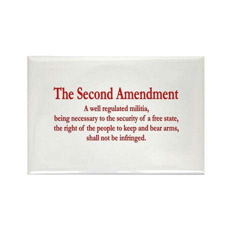 The Second Amendment Rectangle Magnet (10 pack)