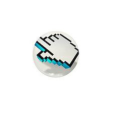 computer click hand icon Mini Button (10 pack)