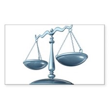 scale of justice Decal