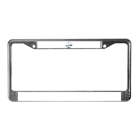 scale of justice License Plate Frame