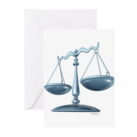 scale of justice Greeting Cards (Pk of 20)