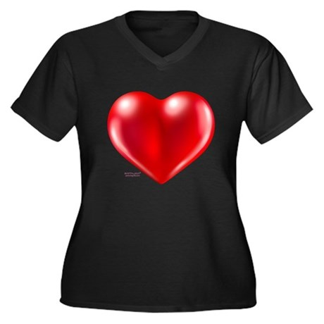 healthy heart life style Women's Plus Size V-Neck