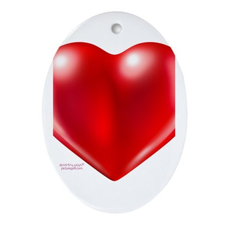 healthy heart life style Ornament (Oval)