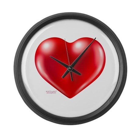 healthy heart life style Large Wall Clock