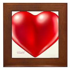 healthy heart life style Framed Tile