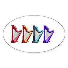 rainbow harps Decal