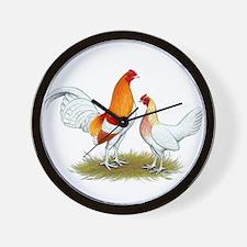 Old English Bantam: Red Pyle Wall Clock