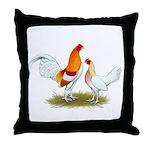Old English Bantam: Red Pyle Throw Pillow