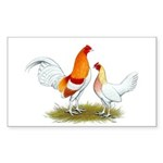 Old English Bantam: Red Pyle Sticker (Rectangle 50