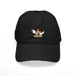 Old English Bantam: Red Pyle Black Cap
