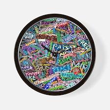 graffiti of the word peace tr Wall Clock