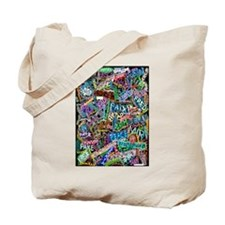 graffiti of the word peace tr Tote Bag