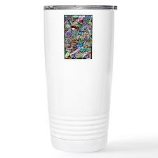 graffiti of the word peace tr Travel Mug