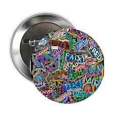 "graffiti of the word peace tr 2.25"" Button"