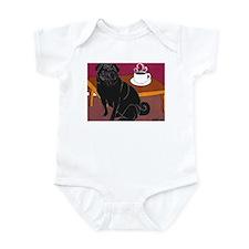 Black Pug Coffee Dog Infant Creeper