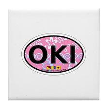Ocracoke Island - Sandollar Design Tile Coaster