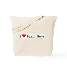 I Love Farm Boys Tote Bag
