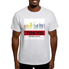 "PRIDE WAVE ""Tokyo"" Ash Grey T-Shirt"