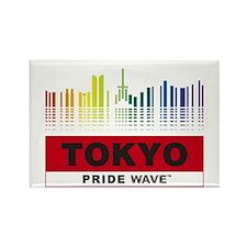 """PRIDE WAVE """"Tokyo"""" Rectangle Magnet"""