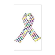 all cancer rep ribbon 2.1 Decal