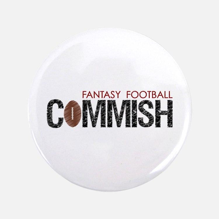 "Fantasy Football Commish 3.5"" Button"